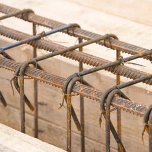 Изготовление арматурных каркасов фундамента перекрытия