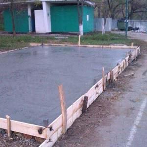 Монолитные работы по заливке бетонного пола и площадок в Севастополе