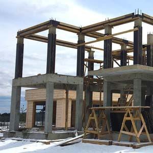 Строительство монолитного железобетонного каркаса дома